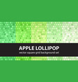 square pattern set apple lollipop tile vector image vector image