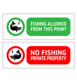 sticker set no fishing or fishing allowed vector image vector image