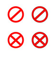 stop sign symbol set warning vector image