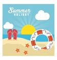 Summer design sandals and float icon graphic vector image vector image