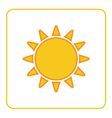 Sun icon white background isolated vector image vector image