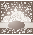 three roses with label vector image vector image