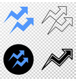 trend arrows eps icon with contour version vector image vector image