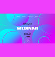 webinar template abstract colorful vector image