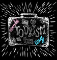 world tourism day 27 september a suitcase with vector image