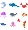sea animal cartoon vector image