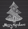 Ornamental hand drawn sketch of Christmas tree in vector image