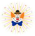 cartoon clown face vector image