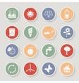 Round ecology icon set vector image