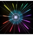 Abstract Colorful Magic Glow Ray Lights vector image vector image