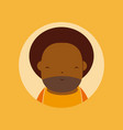 afro grandfather avatar vector image