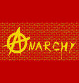 anarchy red brick wall vector image