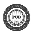 beer pub isolated icon craft brewery wooden vector image vector image