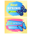 best spring discount big sale off discounts set vector image