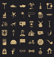 bicycle icons set simple style vector image vector image