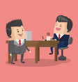 businessmen at office vector image