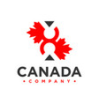canada logo number 8 vector image