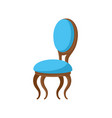 chair classic design wooden and soft seat vector image