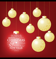 Christmas ball competition and a happy greeting vector image vector image