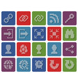 collection rounded square dotted icons user vector image vector image