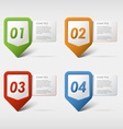 Colorful set progress icons vector image