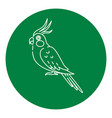 corella parrot icon in thin line style vector image vector image