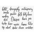 Dance studio inspiration typography set vector image