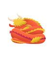 dragon cartoon cute sleep dino character vector image vector image