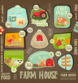 farm labels collection vector image