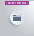 file folder symbol icon on gray shaded background vector image vector image