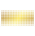 flower gold halftone effect vector image