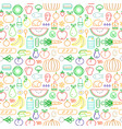 Food seamless pattern modern outline icons