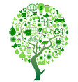 green environment eco tree vector image vector image