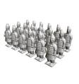 group terracotta warriors sculptures of vector image vector image