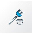 hair dye brush icon colored line symbol premium vector image