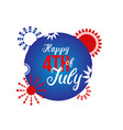 happy 4th july lettering design vector image vector image