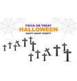 happy halloween night party black cross grey vector image