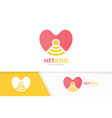 heart and wifi logo combination love and vector image vector image