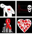 Heart attack prevention vector image vector image