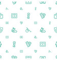 help icons pattern seamless white background vector image vector image