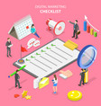 isometric flat concept of marketing vector image