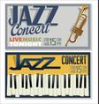 jazz concert banner 5 vector image vector image