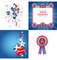 july fourth vector image