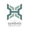 Logo Design Zigzag Icon Symbol Abstract vector image