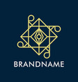 luxury geometry line logo creative concept vector image vector image