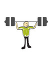man lifts a weight vector image