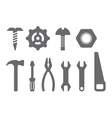 Manual tools and instruments set isolated icons vector image