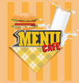 Menu cards or cover design template cafe