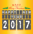 Merry Christmas and Happy New Year Numeric vector image vector image