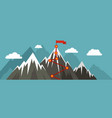 mountain route banner flat style vector image